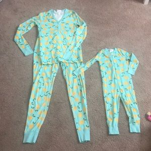 Hanna Andersson Mommy and Me Lemon PJs